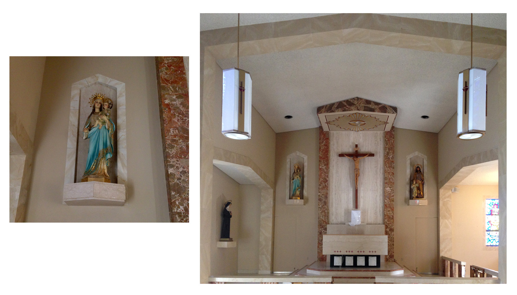 Faux Stone and marble for Convent chapel by Robert Milling