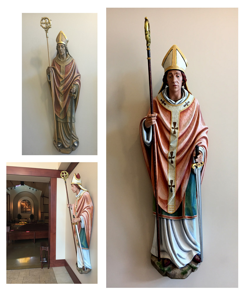 St Killian Statue restoration by Robert Milling