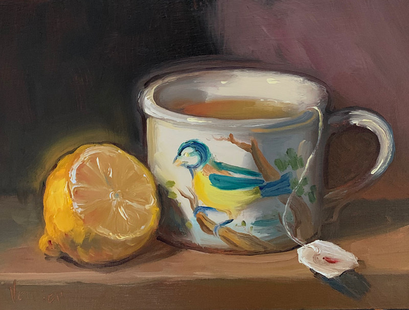 """Lemon & Tea in Birds of Britain""  by Noah Verrier"
