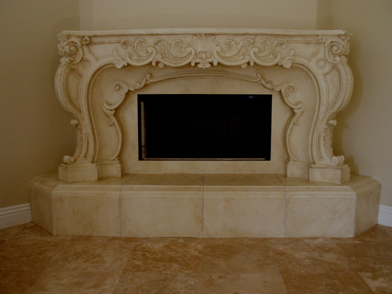 aged Hearth and fireplace by Robert Milling