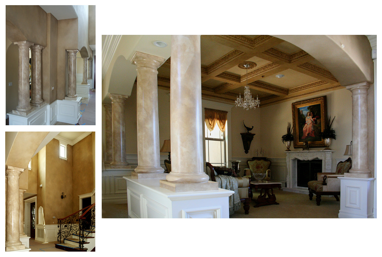 Faux Marble Columns, Antiqued MoldingsHeavey Paint Walls web by Robert Milling