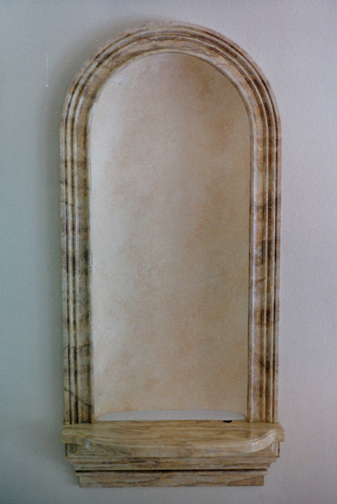 Niche in Marble and Color WashInsert by Robert Milling
