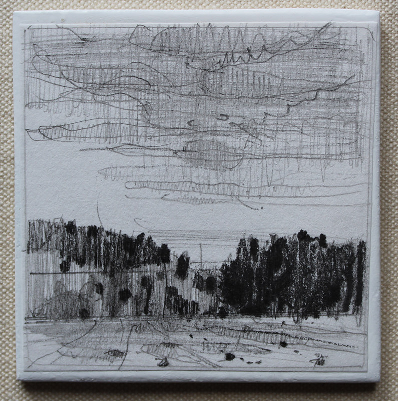 Drawing Evening, Don's Hills  by Harry Stooshinoff