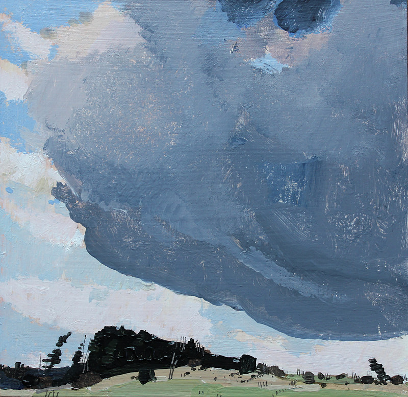 Acrylic painting Squall End, April  by Harry Stooshinoff