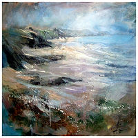 AFTER THE STORM 60x60cm oilon canvas by Anne Farrall Doyle