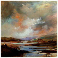 Oil painting MORNING GLOW,  by Anne Farrall Doyle