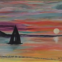Acrylic painting Sailing Away by Jan Wirth