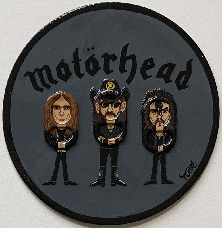 Acrylic painting Motorhead Coaster Art by Yumi Knight