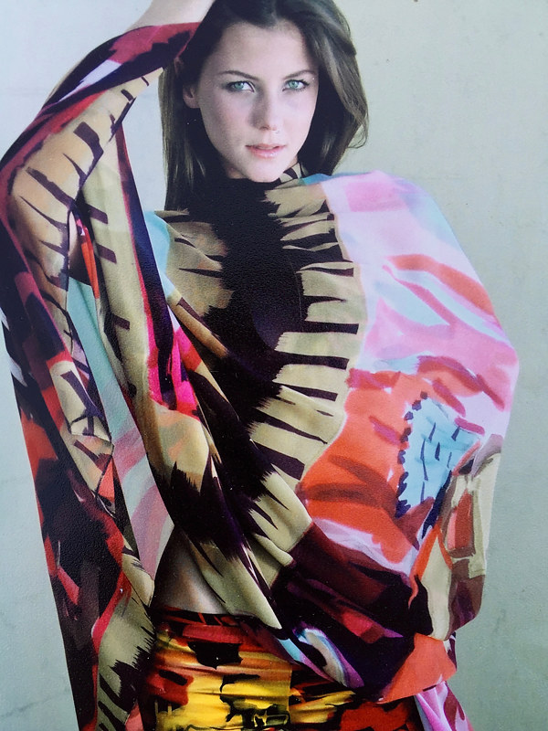 Painting Native American Sunset Print Body Stole by Michael Shyka