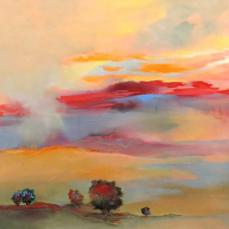 Painting Sunset Therapy by Svetlana Barker