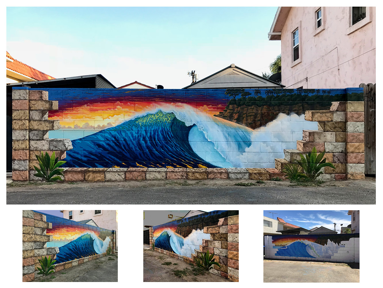 Abandoned Wave Mural Finished For Neighbor by Robert Milling