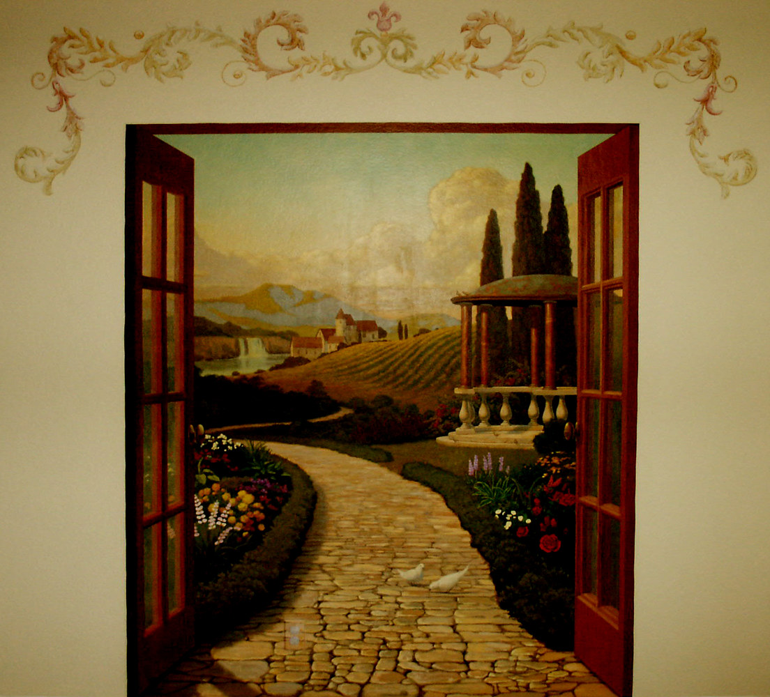 Doorway to italy Mural web by Robert Milling