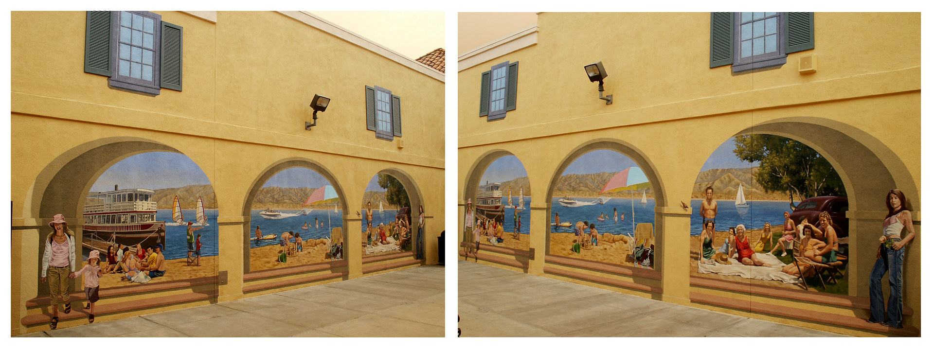 Elsinore Outlet Mall Mural Project 2 by Robert Milling
