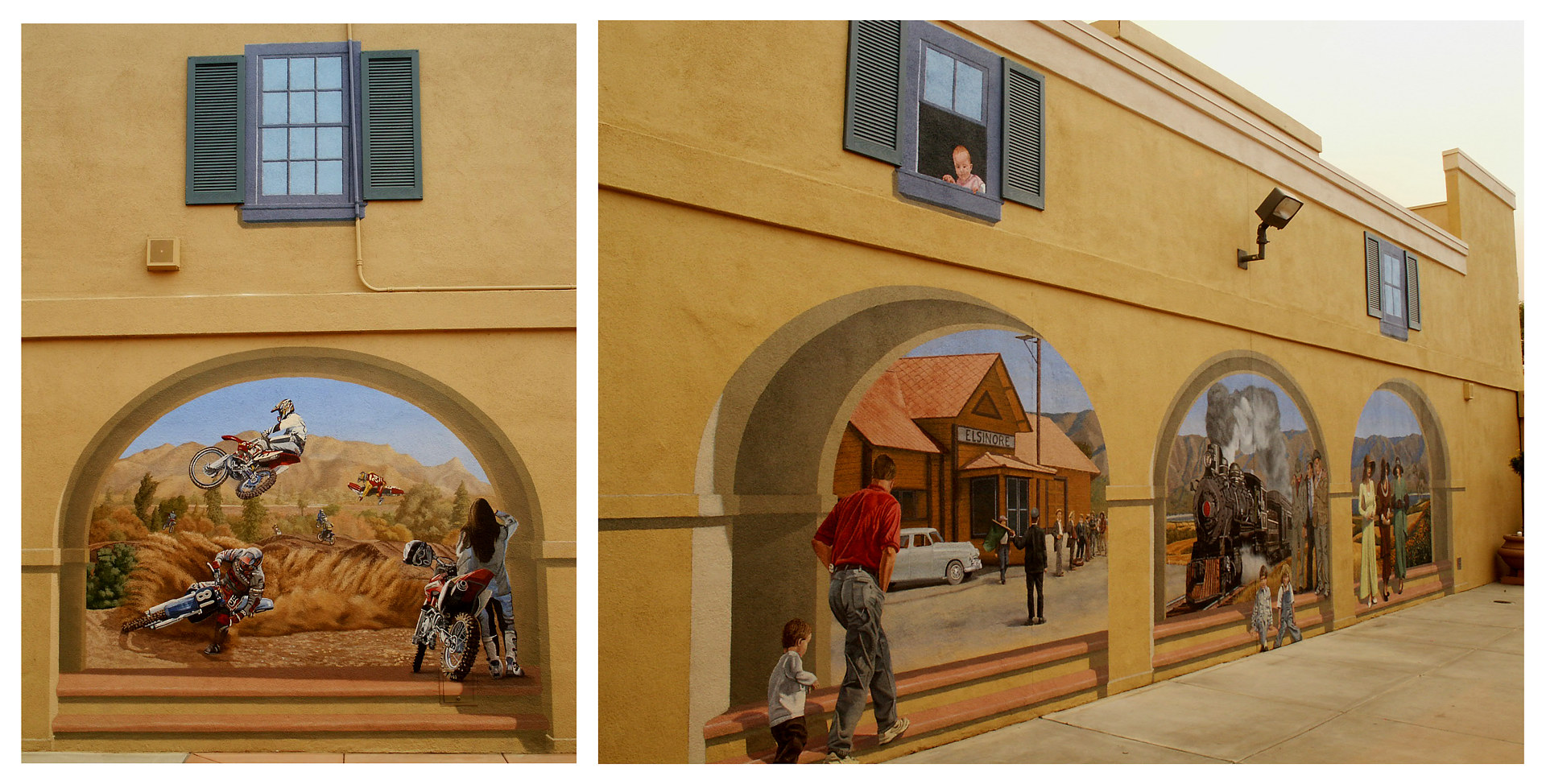 Elsinore Outlet Mall Mural Project 1 by Robert Milling