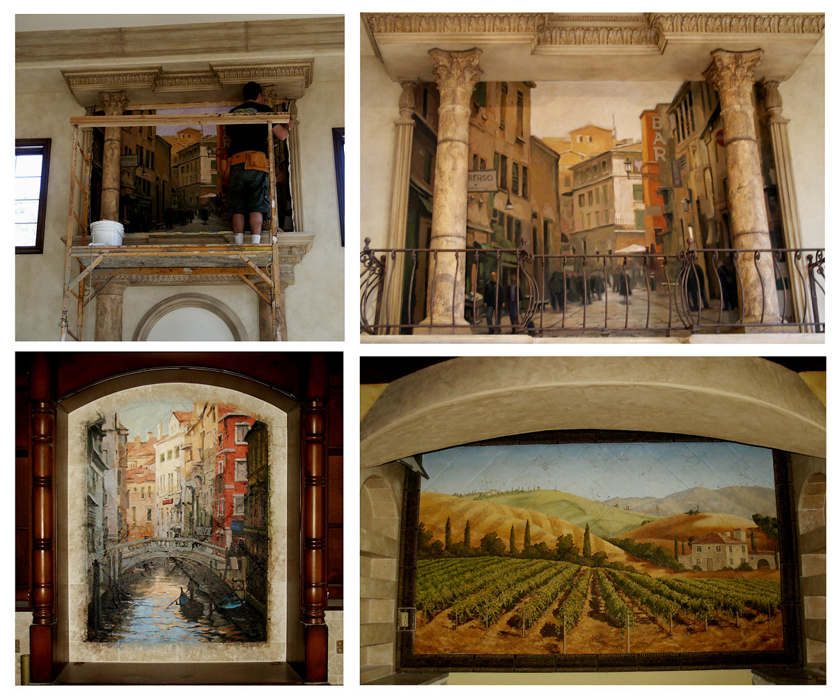 Italian Thened murals by Robert Milling