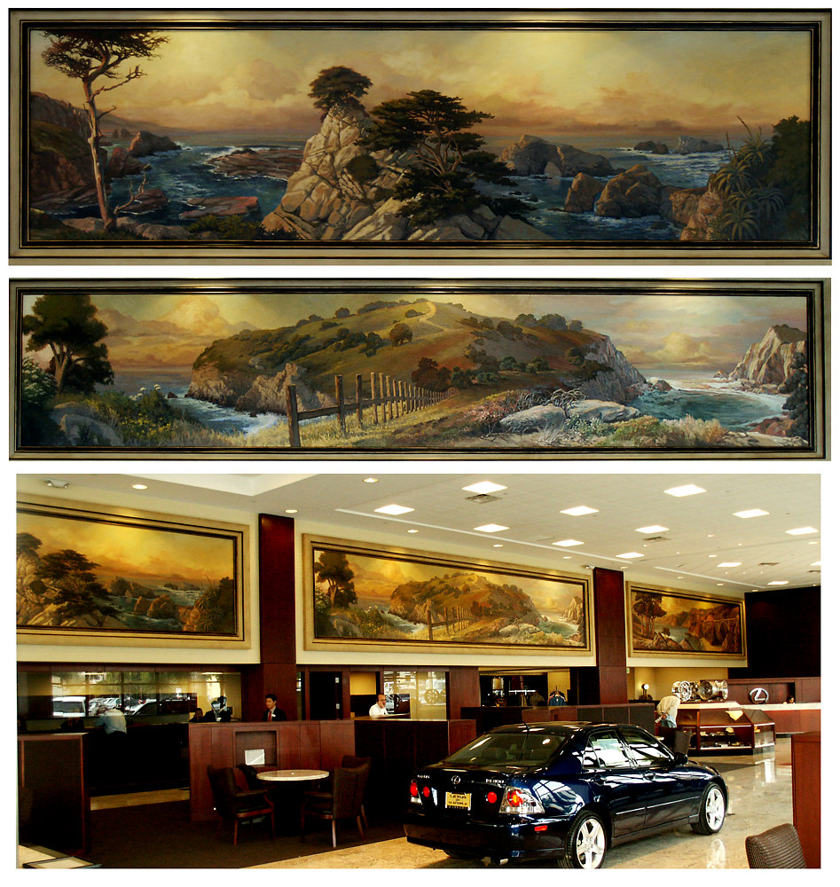 Lexus of Gledale Impressionist Murals 1 of 2 by Robert Milling