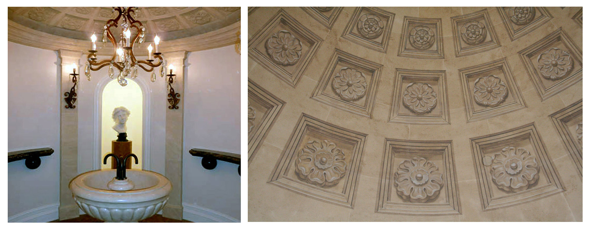 Limestone Surround and Ceiling by Robert Milling