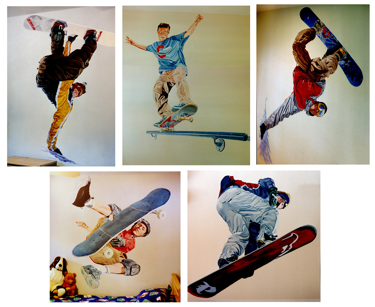 Life Size Skaters and Snowboarders for Kids Room by Robert Milling