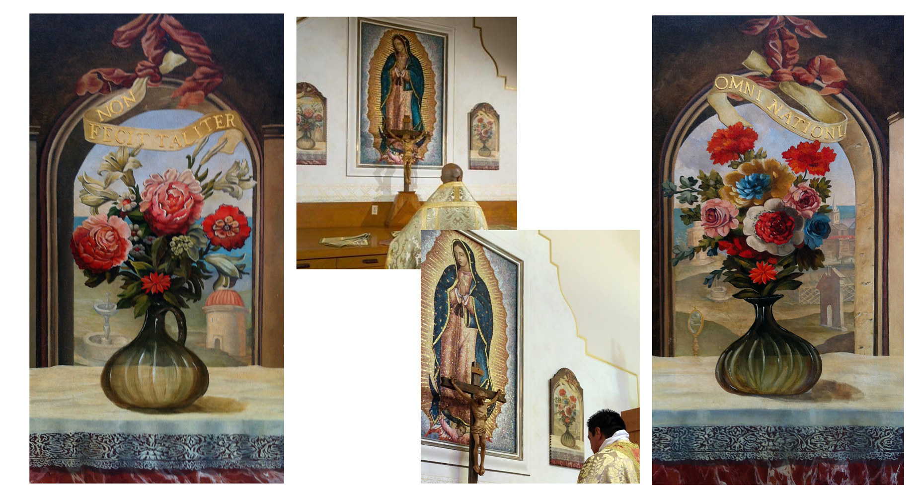 Monastary Sacristy paintings by Robert Milling