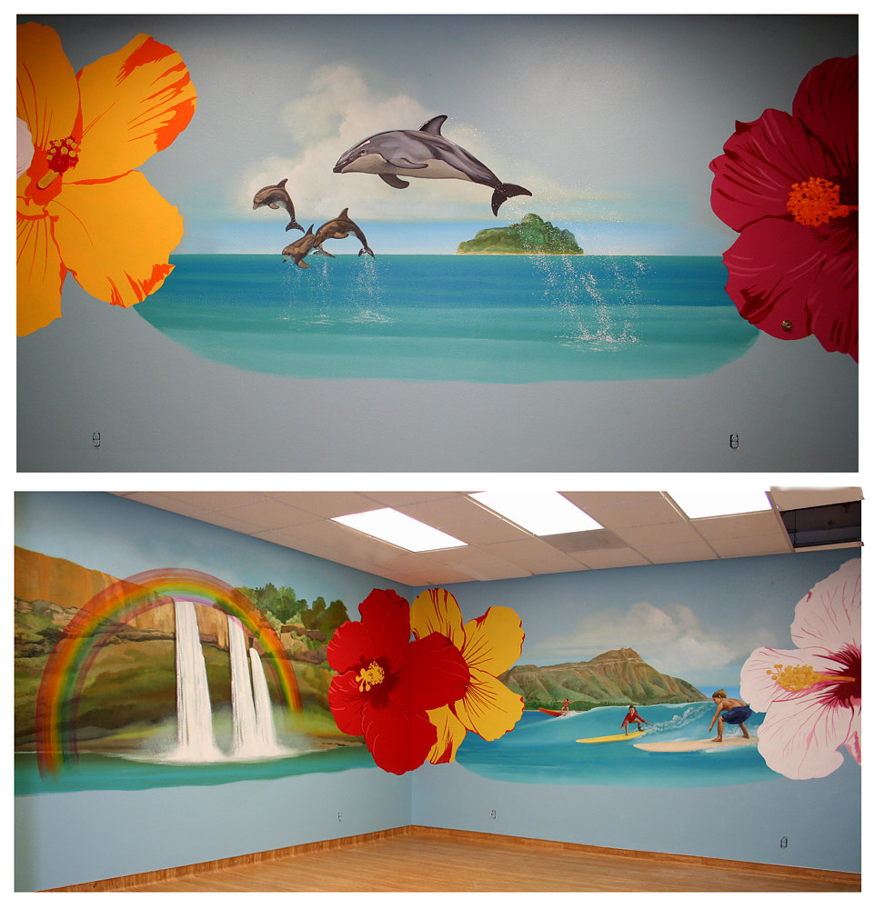 Ocean Themed Party Room by Robert Milling