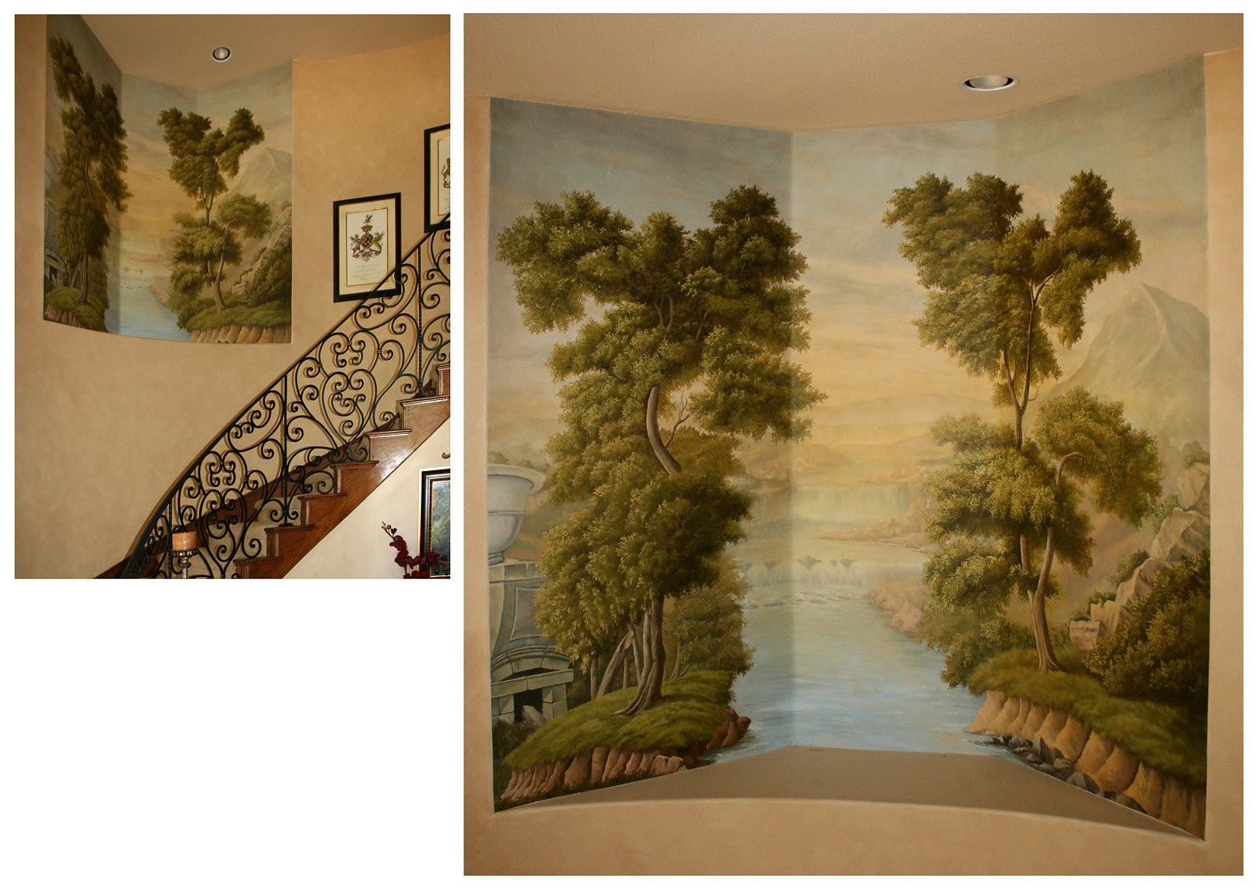 Reproduction Mural for Anaheim Hills Staircase web by Robert Milling