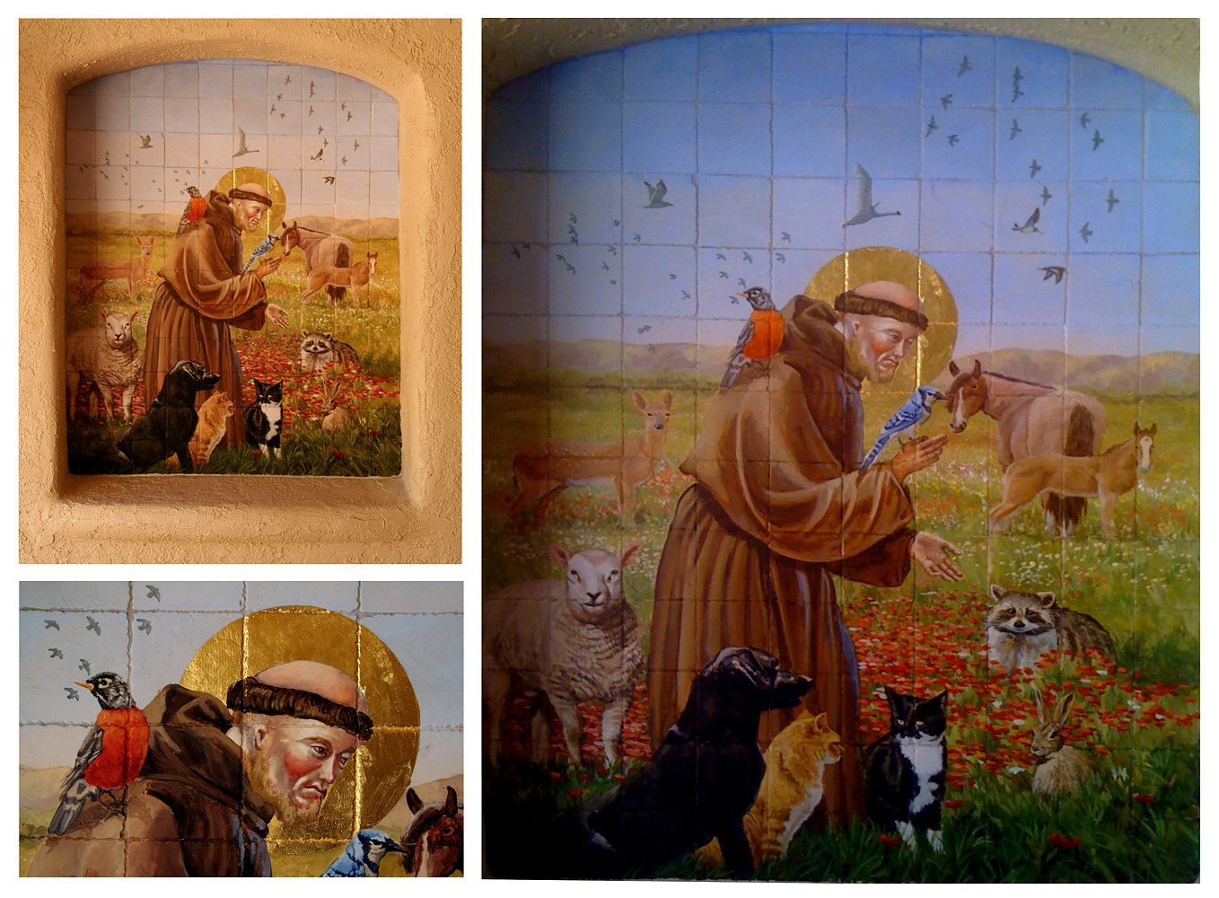 St Francis Alcove Mural in Entry Palos Verdes by Robert Milling
