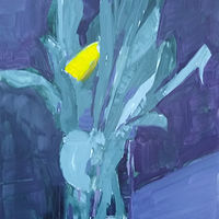 Oil painting The yellow tulip by Karen Smith