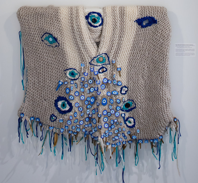 Prayer Shawl with Protective Amulets by Julie Gladstone