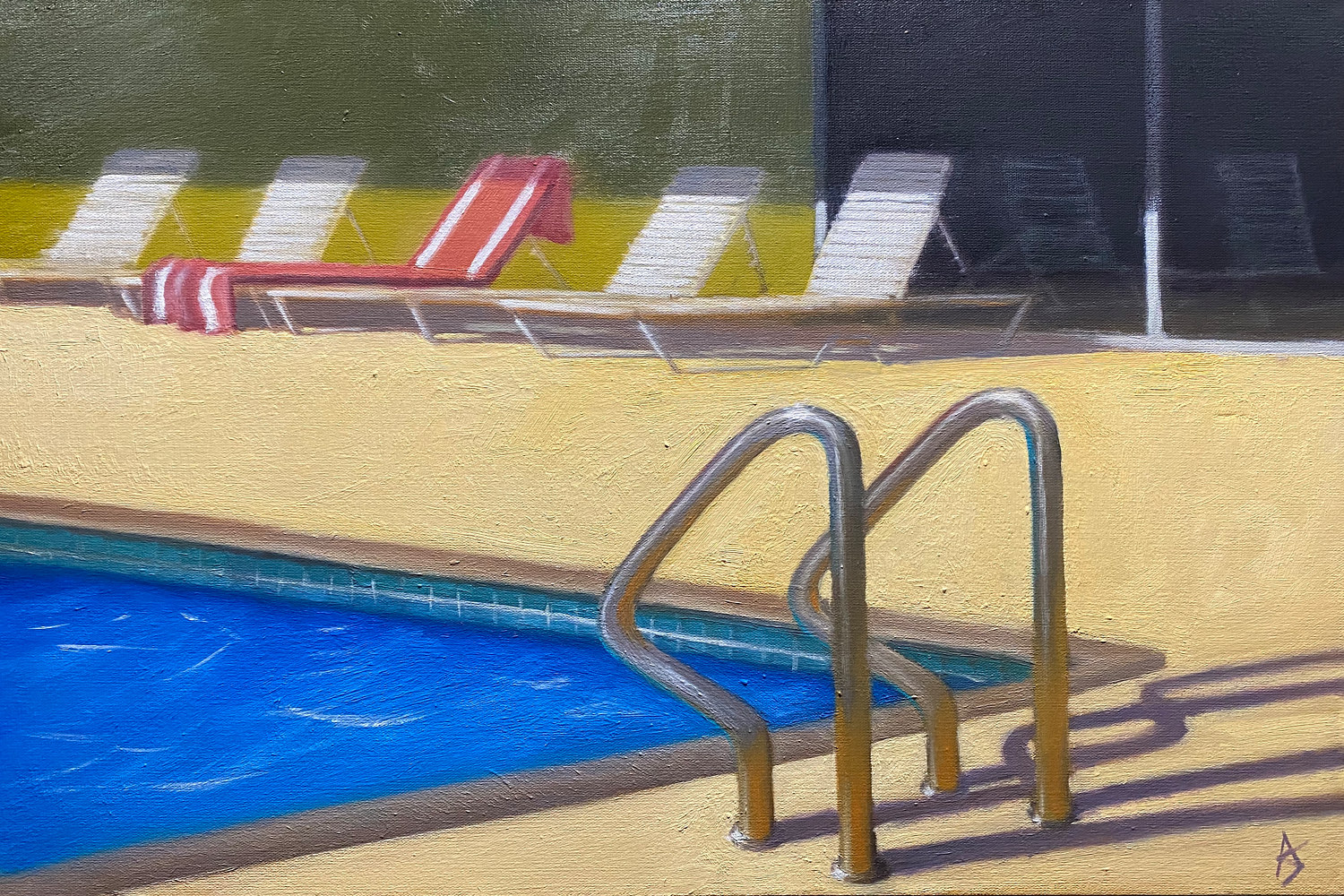 Oil painting Poolside 2 - Alex Selkowitz by Alex Selkowitz