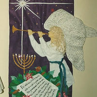 Christmas angel felt banner by Jan Wirth