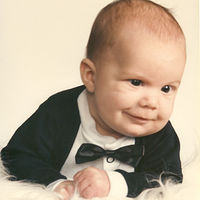 David at 6 months old - always smiling by Jan Wirth