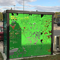 The West side of the Bus Shelter by Tamara Rusnak