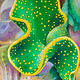 Oil painting Polka Dot Curly Cactus by Raymond Noesen