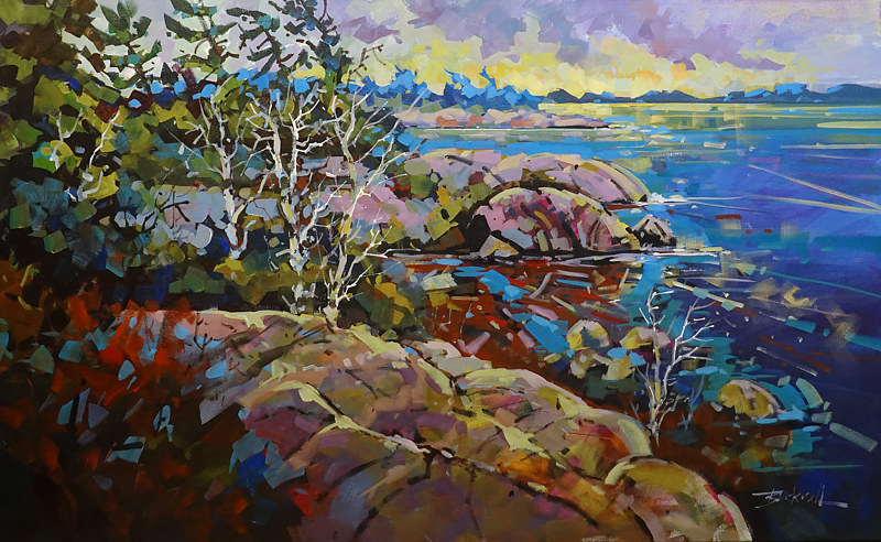 Still Water Killbear   Acrylic  30x48 2020 by Brian  Buckrell