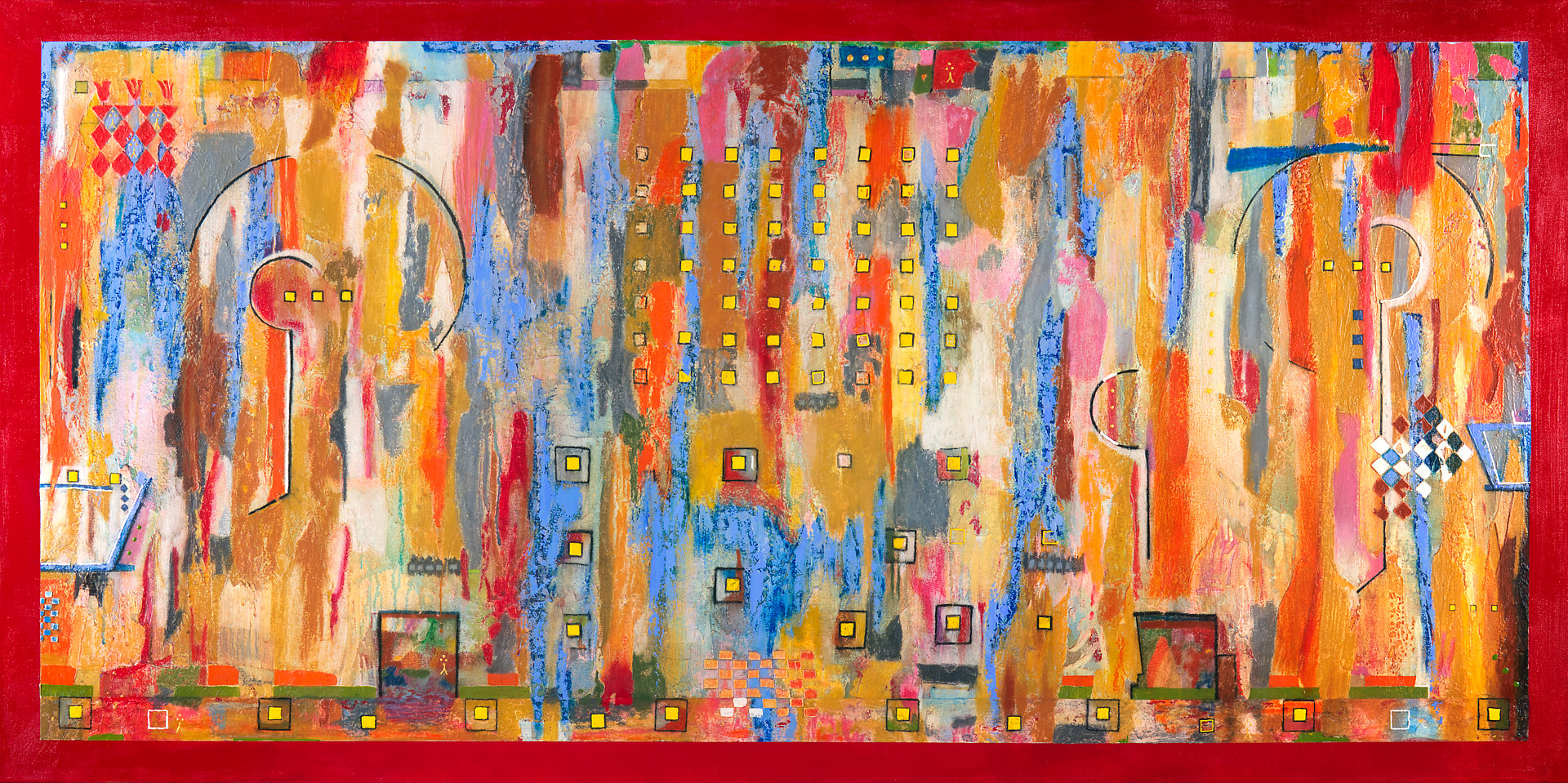 Acrylic painting Jukebox Eight   36x72  $4800.00 by Edward Bock