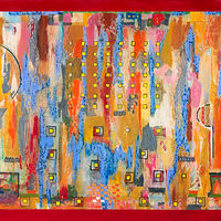 Acrylic painting Jukebox Eight   36x72  $5200.00 by Edward Bock