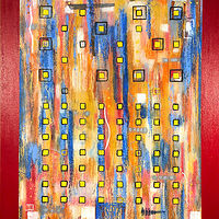 Acrylic painting Jukebox Seven   30x24  $1550.00 by Edward Bock