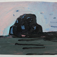 Acrylic painting Evening Rock  by Harry Stooshinoff