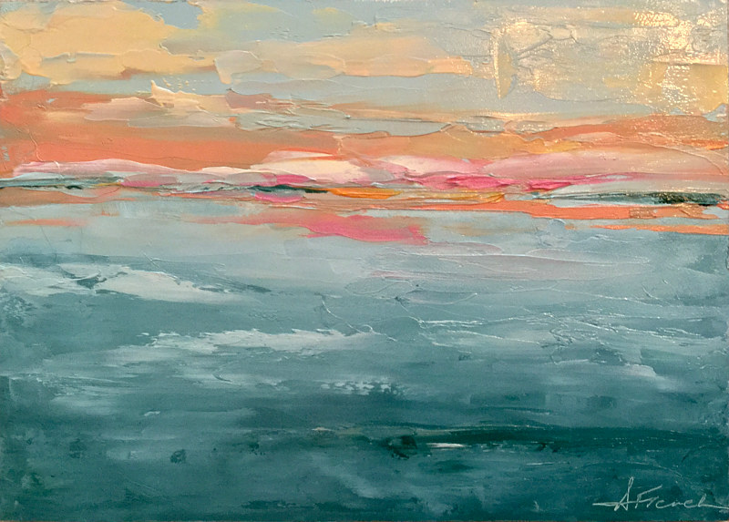 "Oil painting ""Sunset Islands"" by Anne French"