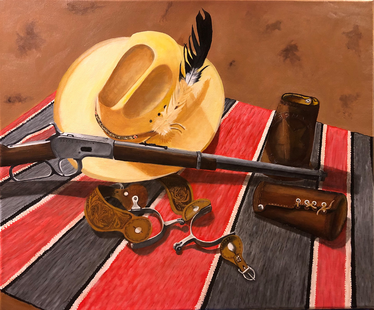 "Oil painting ""Texas Ranger"" by Gary Cheatham"