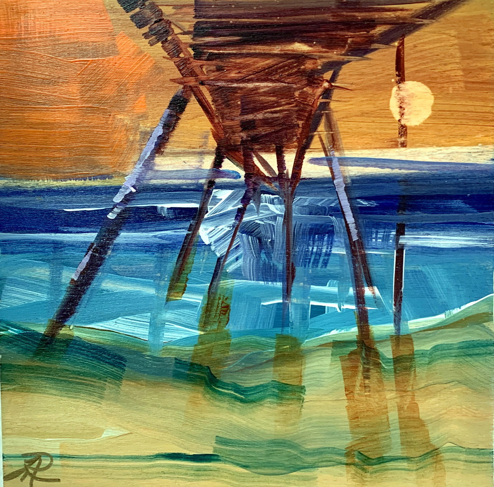Acrylic painting Pier by linda richardi