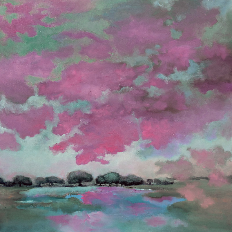 Painting Swimming Clouds. by Svetlana Barker