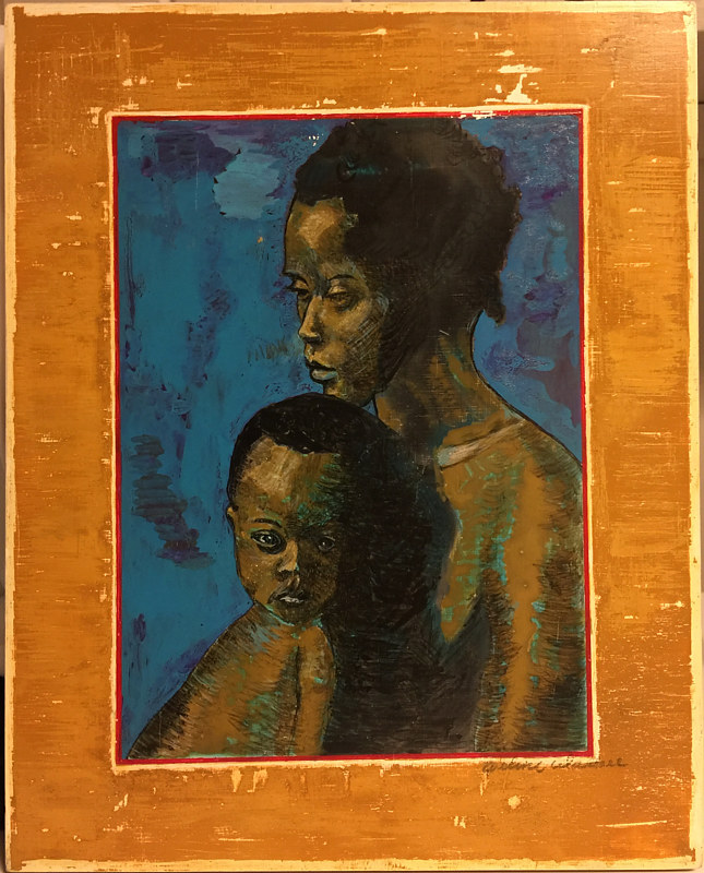 African Mother and Child by Eveline Wallace