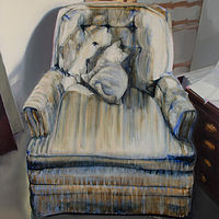Oil painting Chair by Serena Stevens