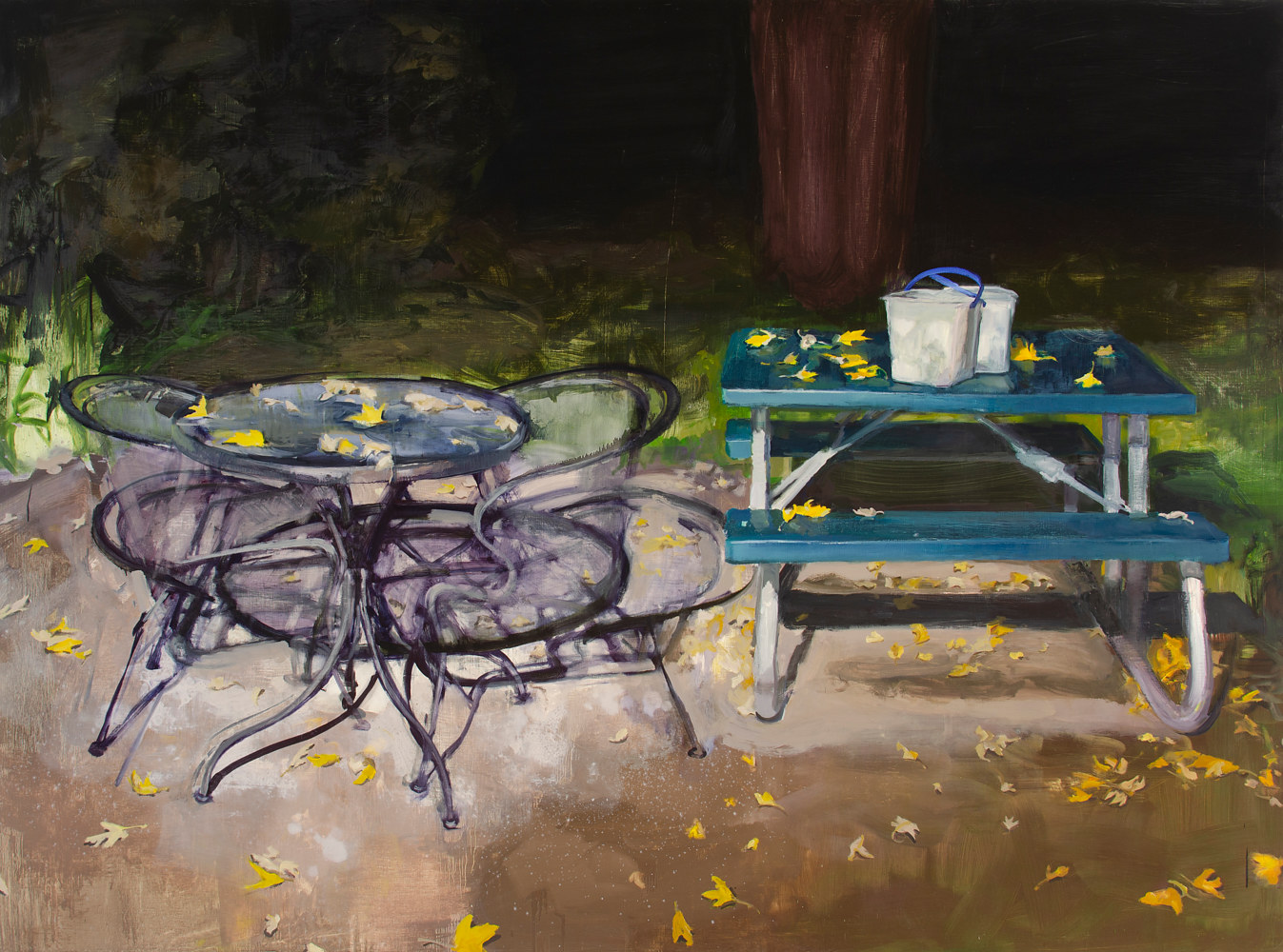 Oil painting Backyard by Serena Stevens
