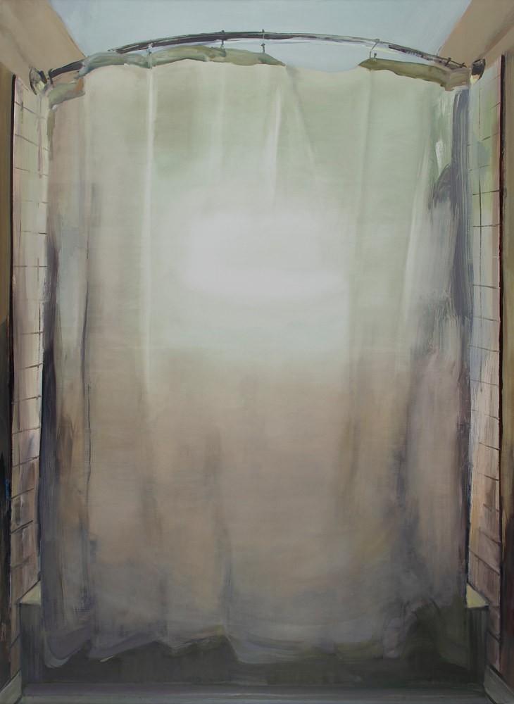 Oil painting Curtain by Serena Stevens
