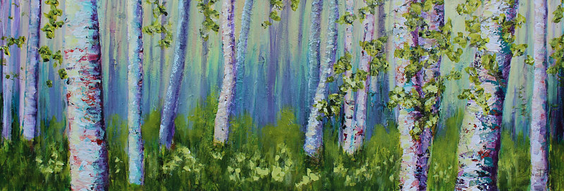 Acrylic painting Boasting Birch by Passionate Painters