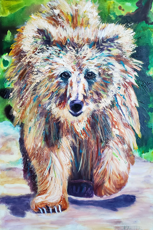 Acrylic painting Ted by Donna Carter by Passionate Painters