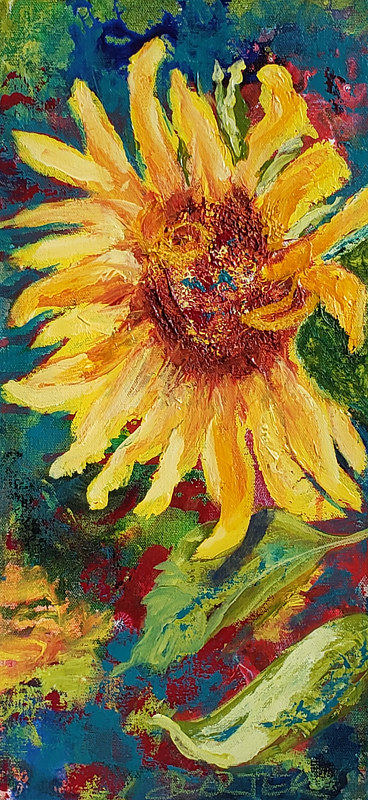 Acrylic painting Moment in the Sun  by Donna Carter by Passionate Painters