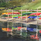 Watercolor Canoes and Kayaks at New Fairfield Marina by Elizabeth4361 Medeiros